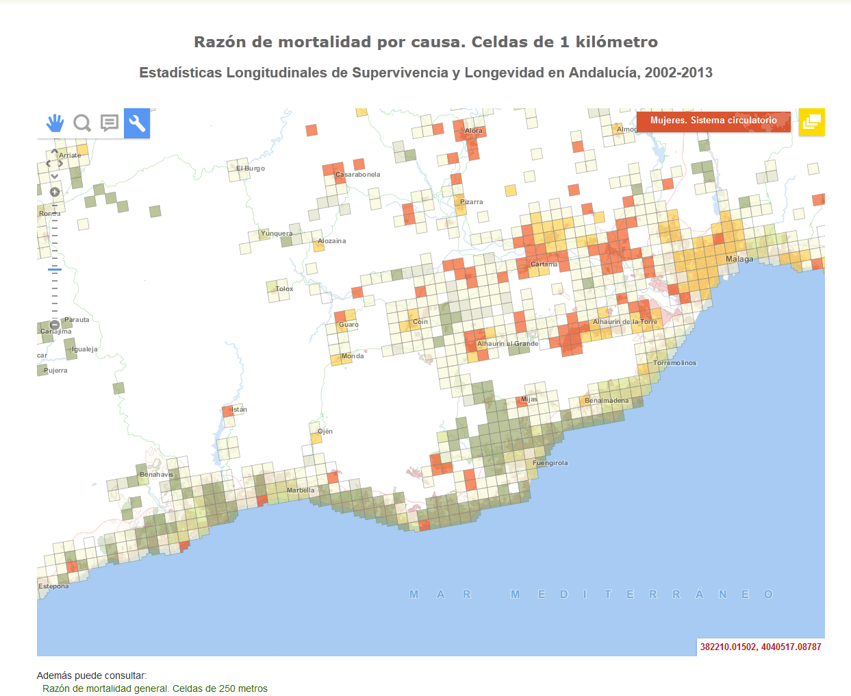 Small Map Of Spain.Map Of Mortality For Small Areas Andalusia Spain