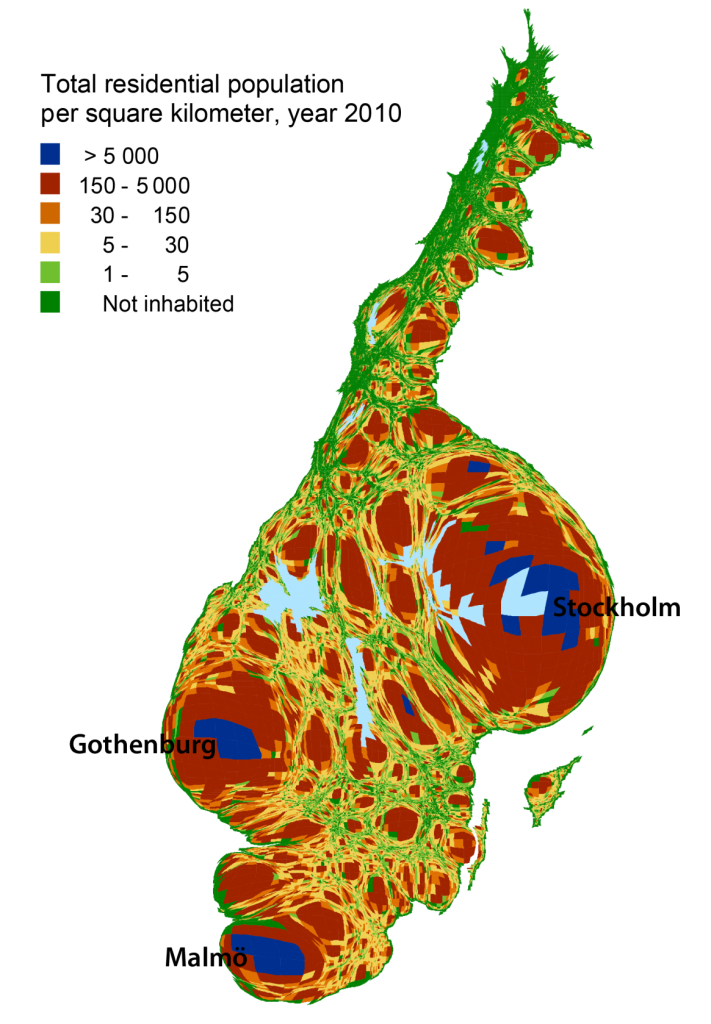 cartogram_population_Sweden