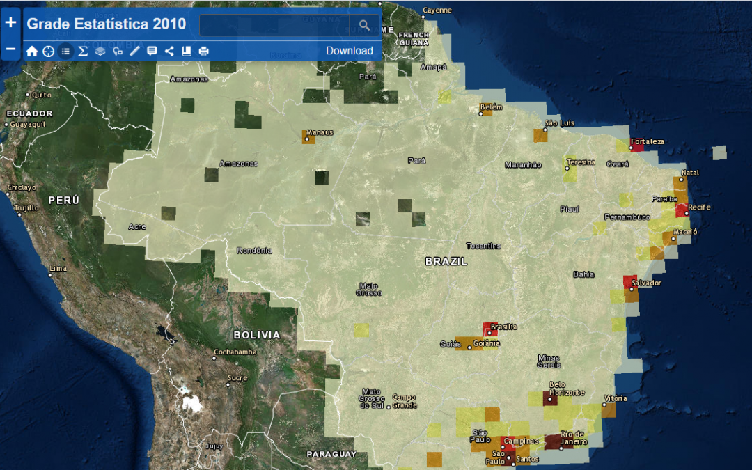 2010 Brazilian Population Census Grid data is now available